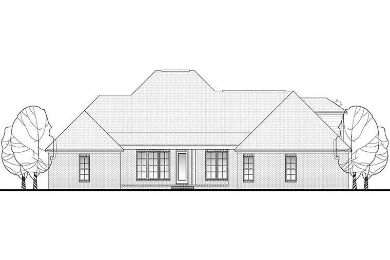 Country European French Country House Plan 51954 Rear Elevation