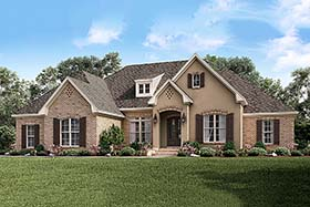 European French Country House Plan 51955 Elevation
