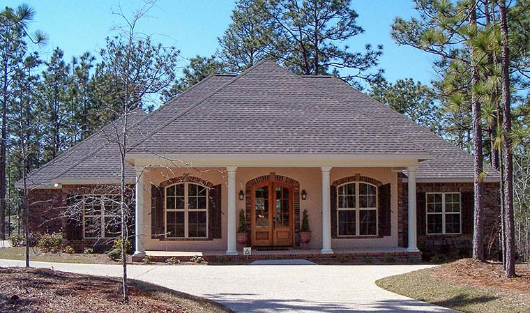Country , French Country House Plan 51957 with 4 Beds, 3 Baths, 2 Car Garage Elevation