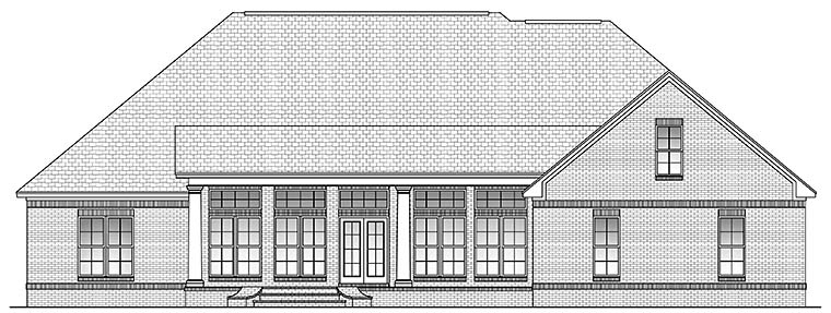 Country French Country Southern House Plan 51959 Rear Elevation