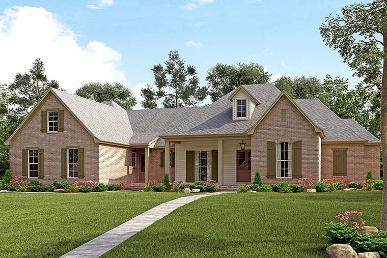 Country French Country Traditional Elevation of Plan 51960