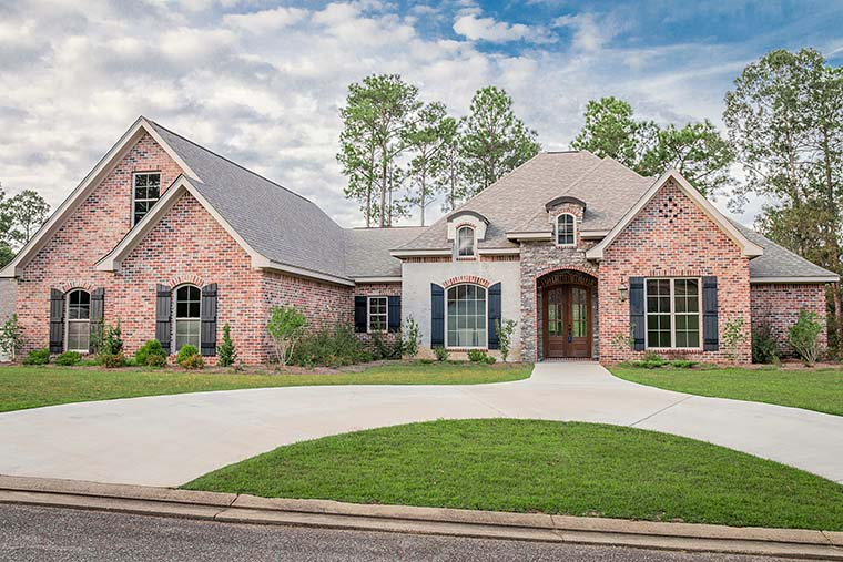 Country, European, French Country House Plan 51962 with 4 Beds, 4 Baths, 2 Car Garage Picture 1