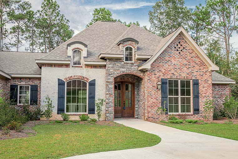 Country, European, French Country House Plan 51962 with 4 Beds, 4 Baths, 2 Car Garage Picture 2