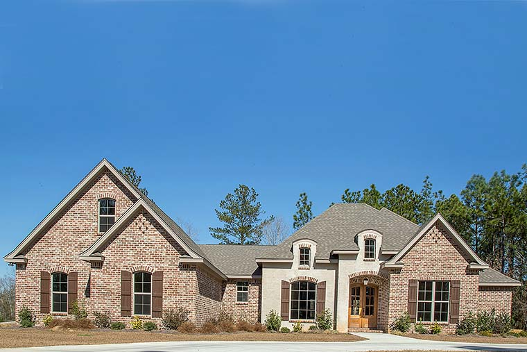 Country, European, French Country House Plan 51962 with 4 Beds, 4 Baths, 2 Car Garage Picture 3