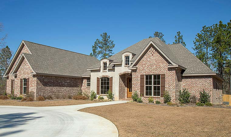 Country, European, French Country House Plan 51962 with 4 Beds, 4 Baths, 2 Car Garage Picture 5