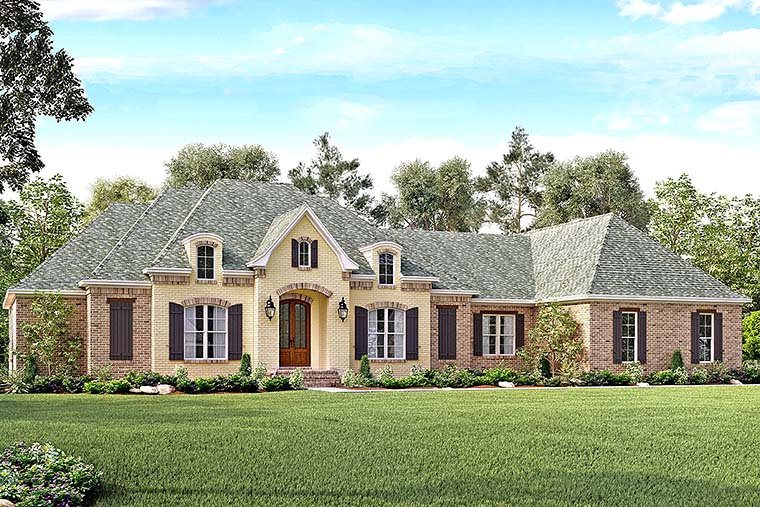 Country European French Country Southern House Plan 51963 Elevation