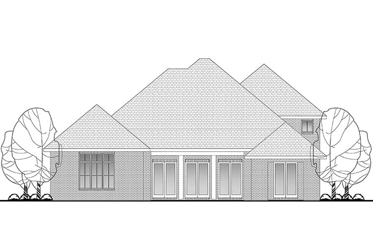 Country European French Country House Plan 51964 Rear Elevation