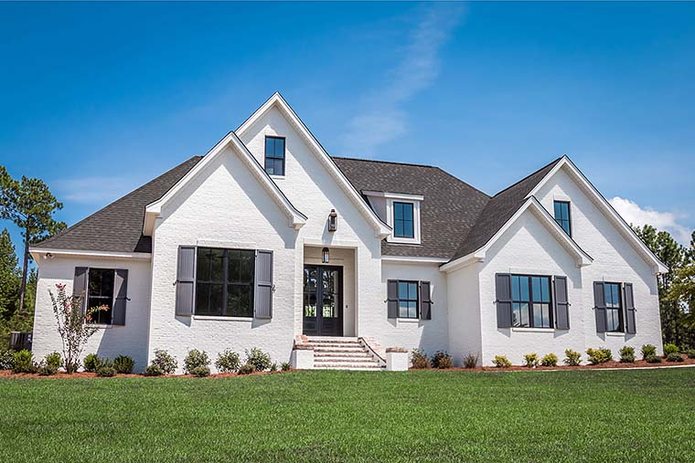 European, French Country Plan with 2404 Sq. Ft., 4 Bedrooms, 3 Bathrooms, 2 Car Garage Elevation