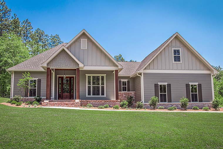 Country, Craftsman, Traditional, House Plan 51971 with 3 Beds, 2 Baths, 2 Car Garage Elevation