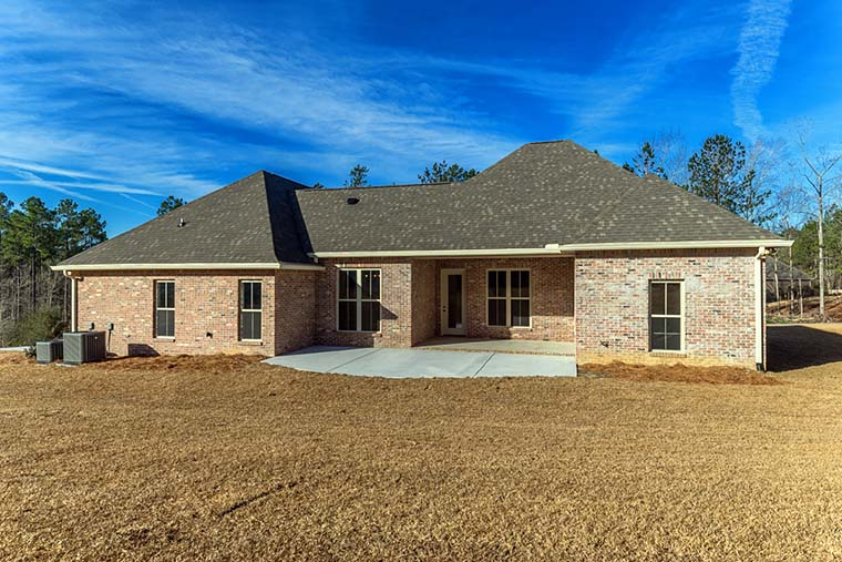 Country, Craftsman, Traditional, House Plan 51971 with 3 Beds, 2 Baths, 2 Car Garage Rear Elevation