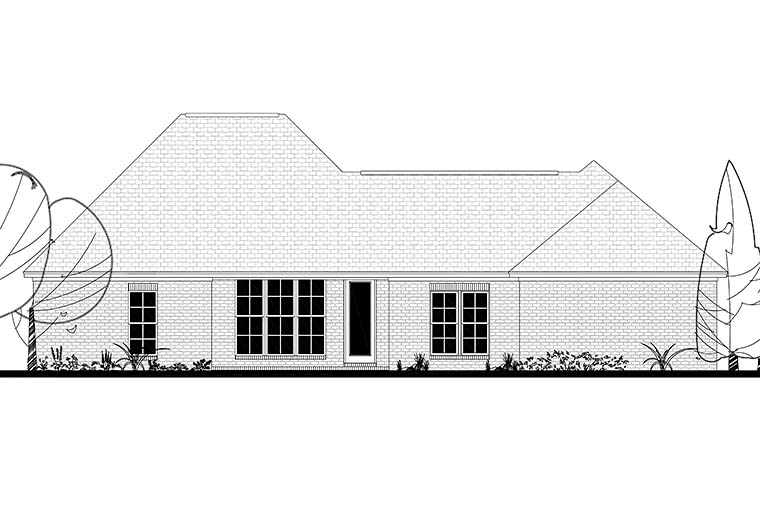 Country French Country Traditional House Plan 51972 Rear Elevation