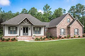 Country , Craftsman , French Country House Plan 51975 with 3 Beds, 3 Baths, 2 Car Garage Elevation