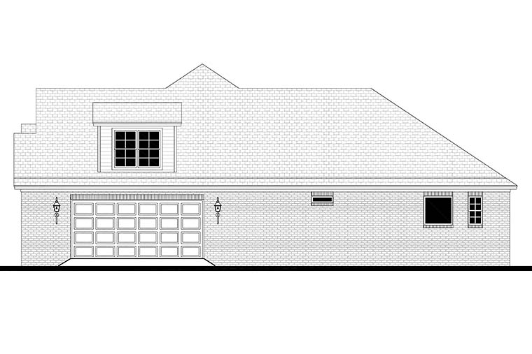 Country, Craftsman, French Country House Plan 51975 with 3 Beds, 3 Baths, 2 Car Garage Picture 1