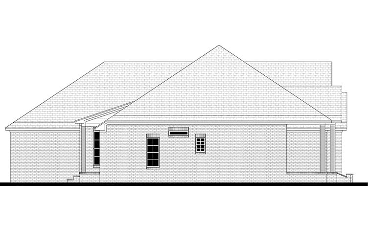 Country, Craftsman, French Country House Plan 51975 with 3 Beds, 3 Baths, 2 Car Garage Picture 2