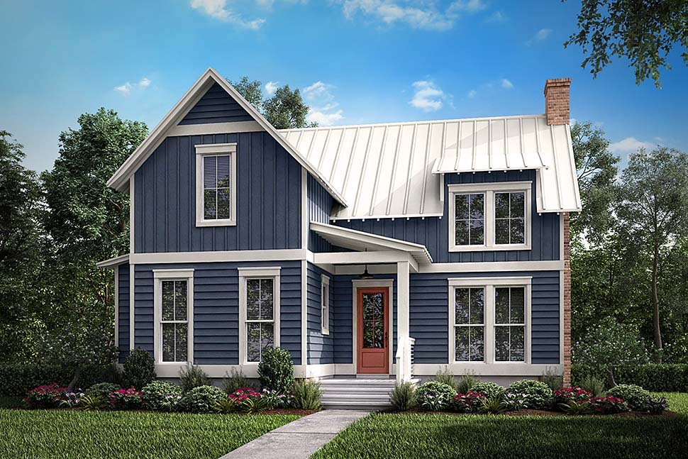 Cabin Country Farmhouse Southern House Plan 51976 Elevation