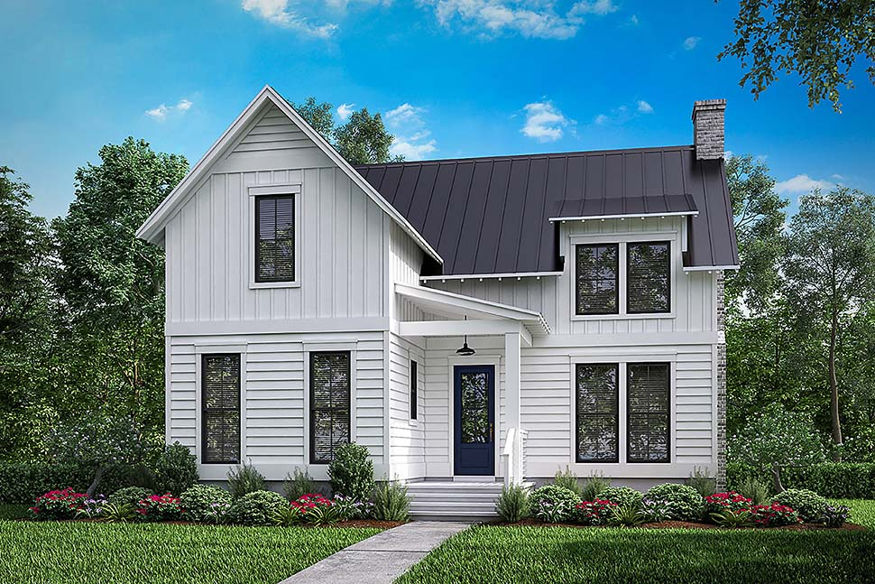 Country Farmhouse Southern Traditional Elevation of Plan 51979
