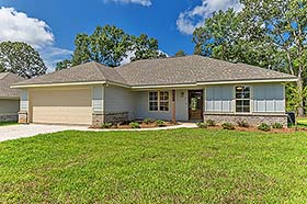 Traditional , Ranch , Country House Plan 51980 with 3 Beds, 2 Baths, 2 Car Garage Elevation
