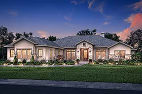 Country , Ranch , Traditional House Plan 51983 with 4 Beds, 4 Baths, 3 Car Garage Elevation