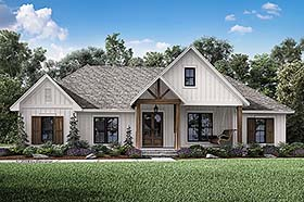 Country Farmhouse Southern House Plan 51984 Elevation