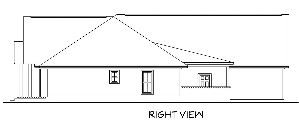 Country, Farmhouse, Southern House Plan 51984 with 3 Beds, 3 Baths, 2 Car Garage Picture 1