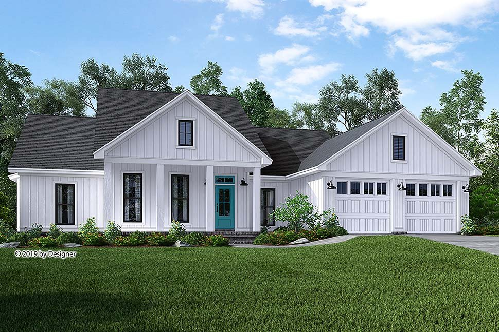 Cottage , Country , Craftsman , Farmhouse , Southern House Plan 51985 with 3 Beds, 2 Baths, 2 Car Garage Elevation