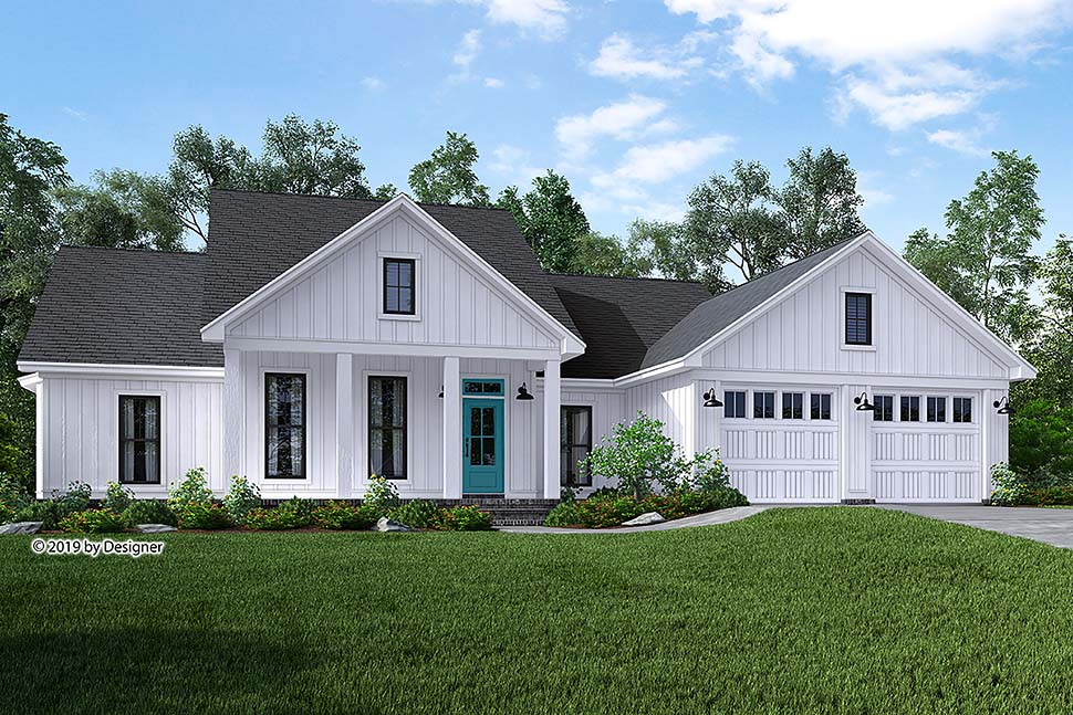 Country , Craftsman , Modern Farmhouse , Southern , Elevation of Plan 51985