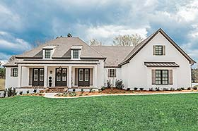 European French Country Ranch Southern House Plan 51989 Elevation
