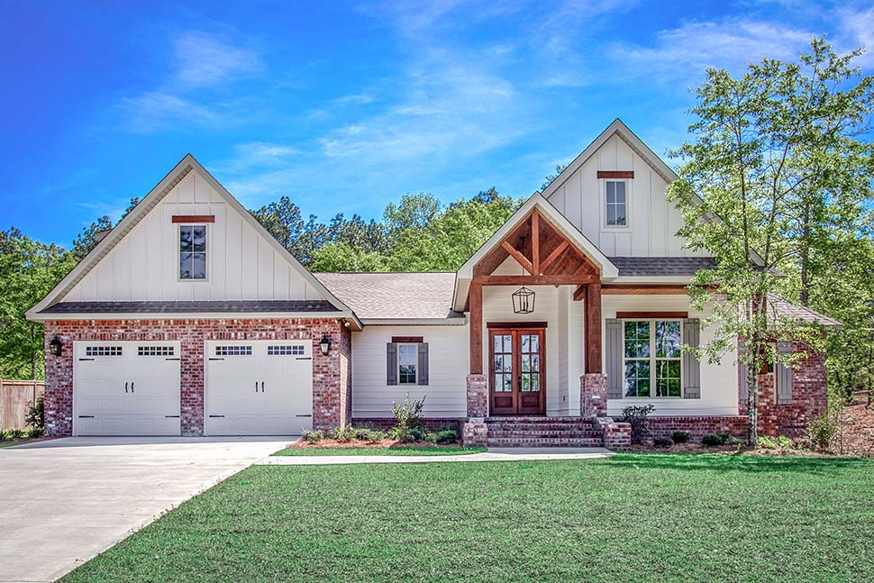 Country, Farmhouse, Traditional House Plan 51991 with 4 Beds, 2 Baths, 2 Car Garage Picture 1