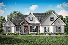 Farmhouse , Craftsman , Country House Plan 51992 with 3 Beds, 3 Baths, 2 Car Garage Elevation