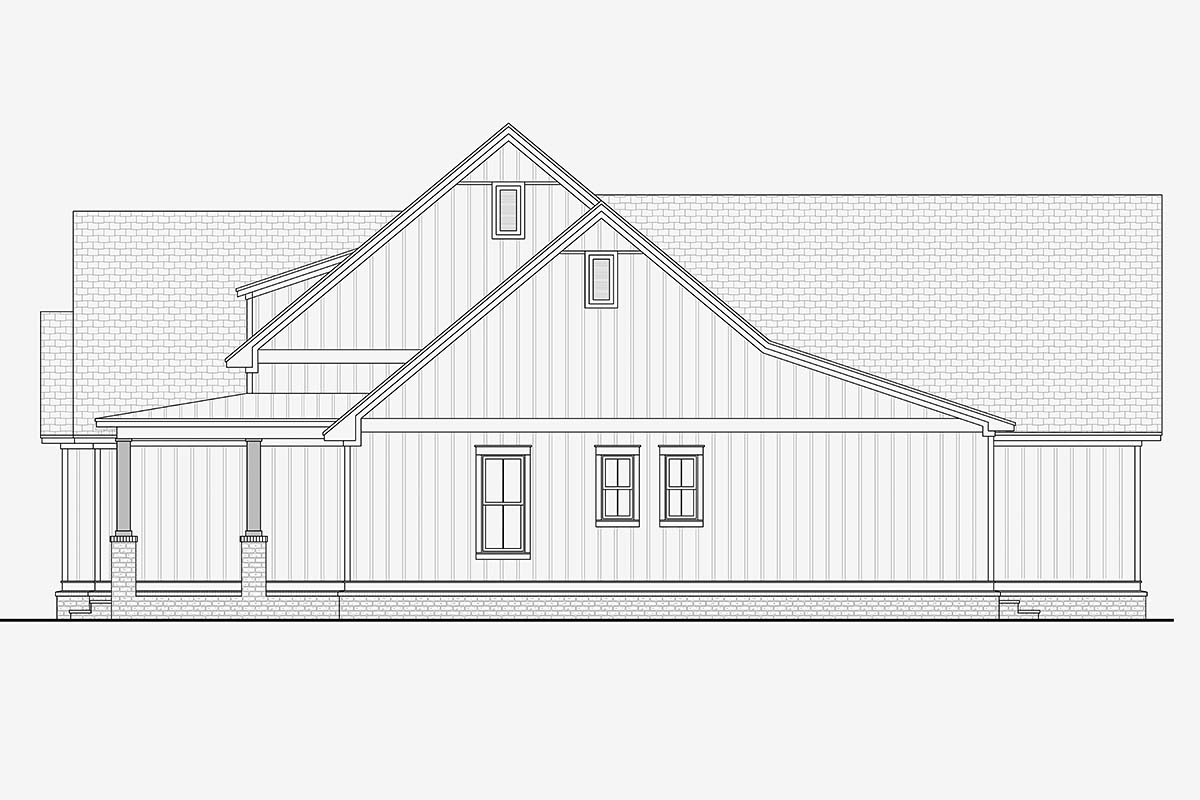 Country, Craftsman, Traditional House Plan 51993 with 3 Beds, 3 Baths, 2 Car Garage Picture 1