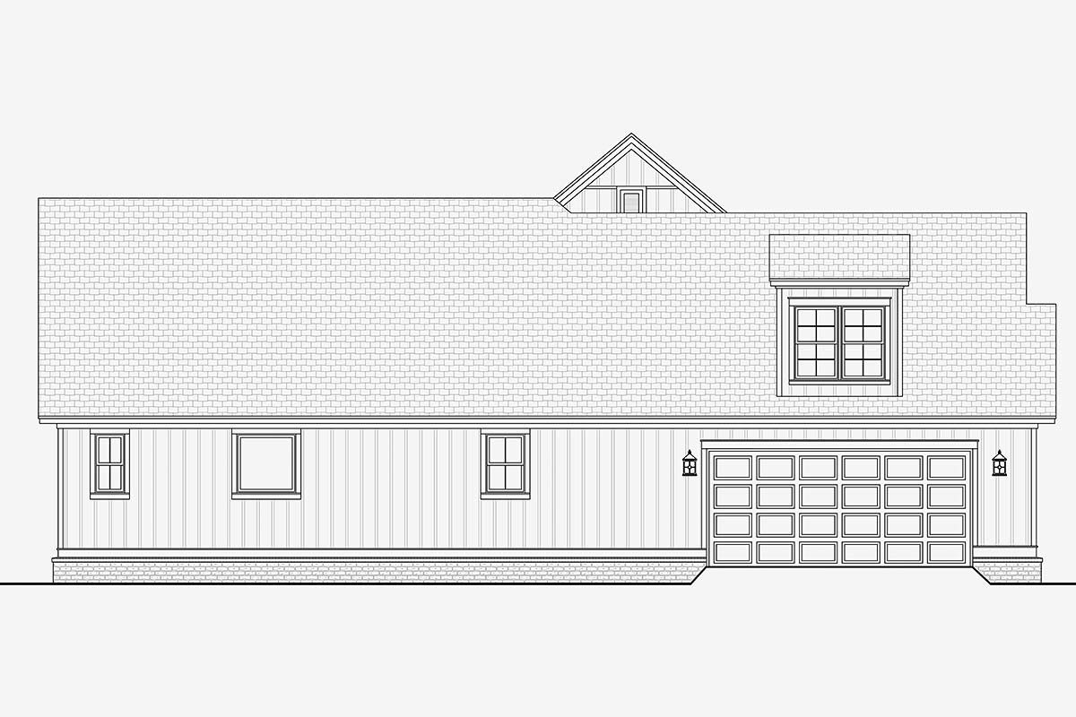 Country, Craftsman, Traditional House Plan 51993 with 3 Beds, 3 Baths, 2 Car Garage Picture 2