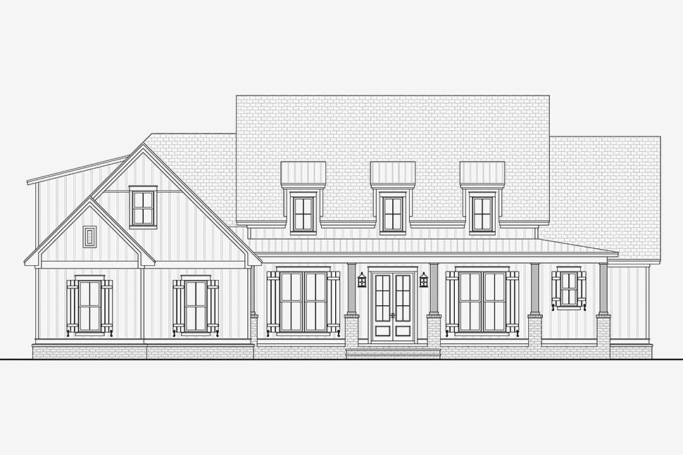 Country, Craftsman, Traditional House Plan 51993 with 3 Beds, 3 Baths, 2 Car Garage Picture 3