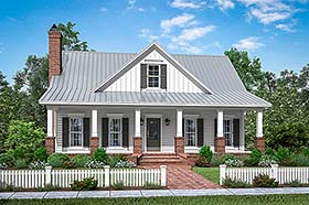 Traditional , Farmhouse , Country House Plan 51994 with 4 Beds, 3 Baths, 2 Car Garage Elevation