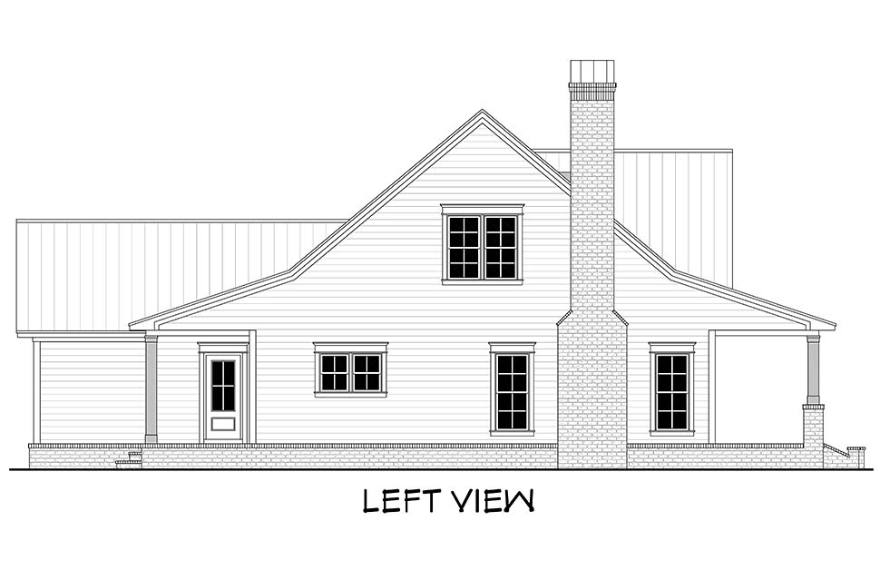 Country, Farmhouse, Traditional House Plan 51994 with 4 Beds, 3 Baths, 2 Car Garage Picture 2