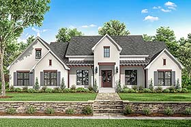 Traditional , Modern , Farmhouse , Country House Plan 51995 with 4 Beds, 4 Baths, 2 Car Garage Elevation