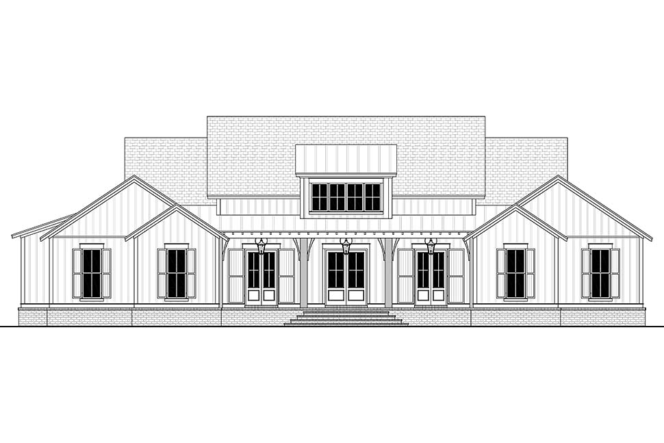 Country, Craftsman, Farmhouse House Plan 51996 with 4 Beds, 4 Baths, 2 Car Garage Picture 3