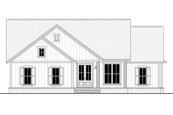 Country, Farmhouse, Southern, Traditional House Plan 51997 with 3 Beds, 2 Baths, 2 Car Garage Picture 3