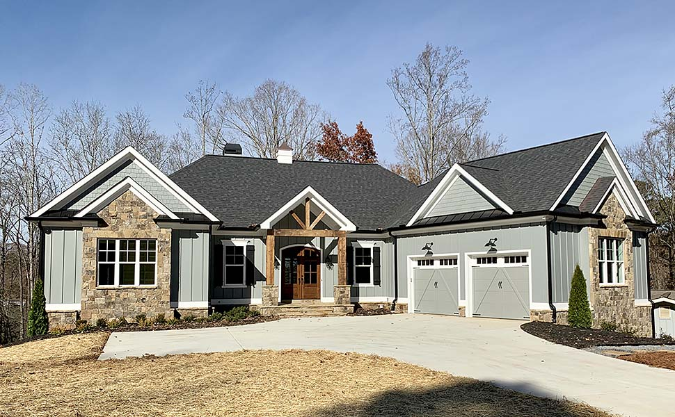Bungalow, Cottage, Craftsman House Plan 52003 with 3 Beds, 4 Baths, 2 Car Garage Elevation