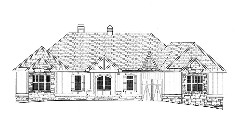 Bungalow, Cottage, Craftsman House Plan 52003 with 3 Beds, 4 Baths, 2 Car Garage Picture 19