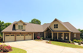 Traditional , Craftsman , Bungalow House Plan 52004 with 4 Beds, 3 Car Garage Elevation