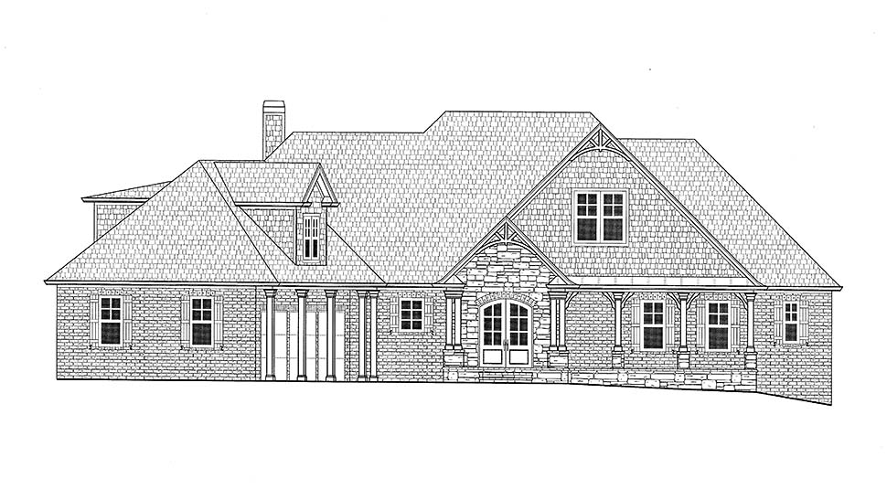 Bungalow, Craftsman, Traditional House Plan 52004 with 4 Beds, 3 Car Garage Picture 14