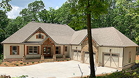 Country , Craftsman , French Country House Plan 52005 with 4 Beds, 4 Baths, 3 Car Garage Elevation