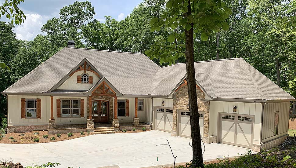 Country, Craftsman, French Country House Plan 52005 with 4 Beds , 4 Baths , 3 Car Garage Elevation