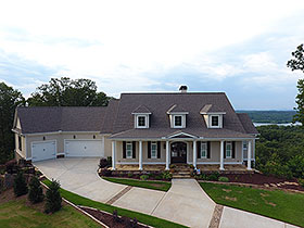 Craftsman , Farmhouse House Plan 52006 with 4 Beds, 4 Baths, 3 Car Garage Elevation