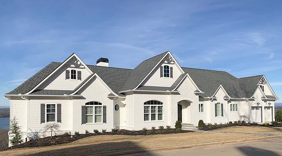 Craftsman, Traditional House Plan 52010 with 4 Beds, 5 Baths, 4 Car Garage Elevation