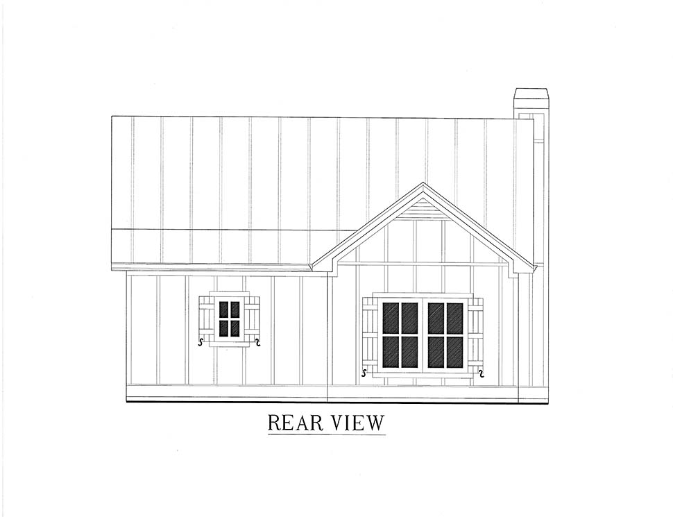 Cabin, Cottage, Country House Plan 52011 with 1 Beds, 1 Baths Picture 13