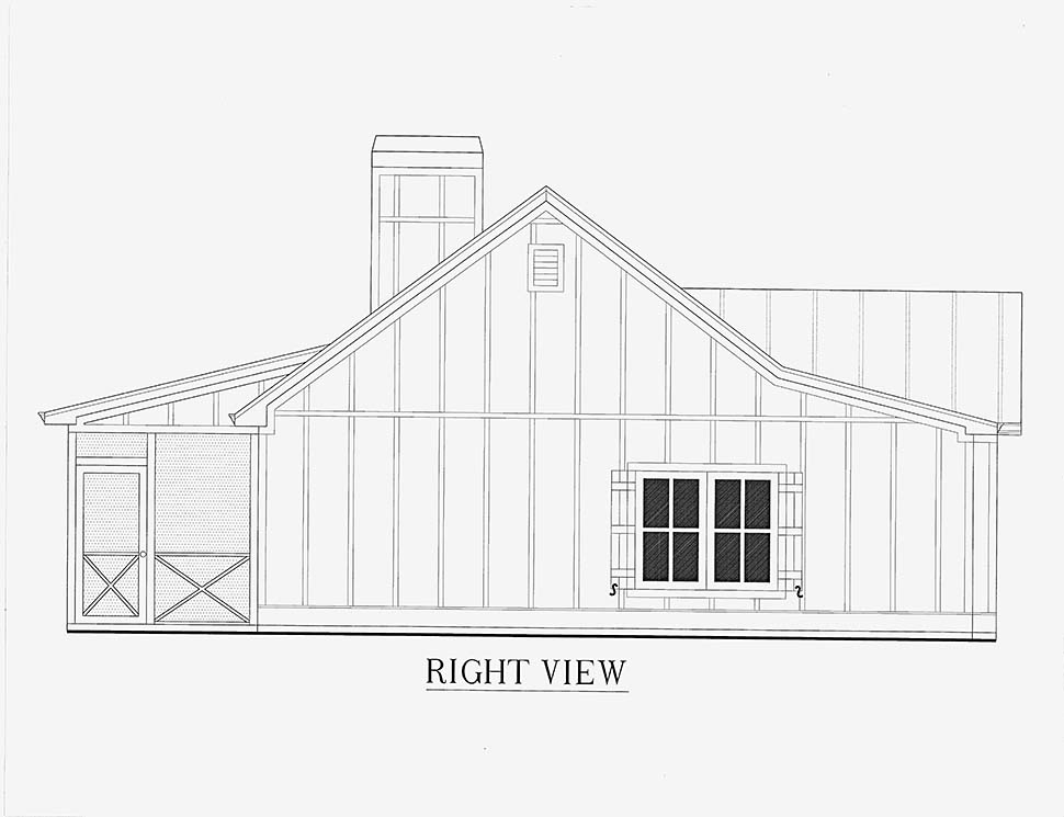 Cabin, Cottage, Country House Plan 52011 with 1 Beds, 1 Baths Picture 15