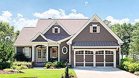 Cottage , Craftsman House Plan 52014 with 3 Beds, 4 Baths, 2 Car Garage Elevation