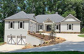 Country , Craftsman House Plan 52018 with 4 Beds, 4 Baths, 4 Car Garage Elevation