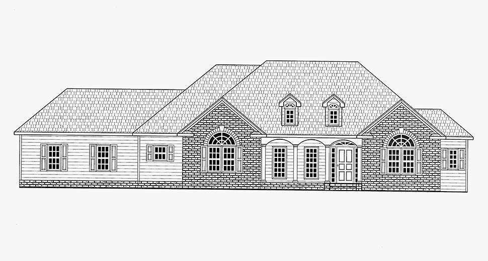Country, Traditional House Plan 52019 with 3 Beds, 3 Baths, 2 Car Garage Picture 11